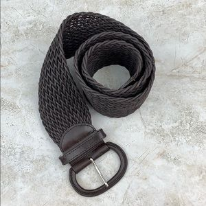 BANANA REPUBLIC — Brown Wide Woven Belt — L